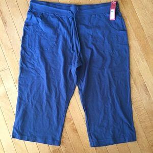 NWT Merona Size 2X Blue Capri Lounge Pants